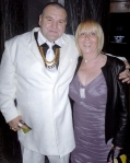 Linda Calvey (The Black Widow) with Norman Buckland 'the Guv'norat the  Premiere of 'Killer Bitch' held at The Curzon Cinema in Mayfair, London