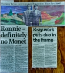 Original paintings by both Ronnie and Reggie Kray painted in 1971 whilst both were imprisoned in HMP Parkhusrt, Isle of Wight . Previously sold at Chiswick Auctions, London  back in 2008 and now on display at the Crime Through Time Collection, Littledean Jail, Gloucestershire