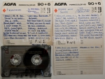 "A selection of cassettes with hand written song lists   by Peter Sutcliffe, ""The Yorkshire Ripper""  . This item is now on display at the Crime Through Time Collection, Littledean Jail, Forest of Dean, Gloucestershire."