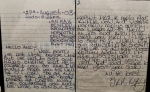 HANDWRITTEN AND SIGNED LETTER TO ANDY JONES OF THE CRIME THROUGH TIME COLLECTION FROM IAN KAYE , ONE OF PETER SUTCLIFFE'S ATTACKERS IN BROADDMOOR HOSPITAL
