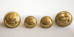 ORIGINAL LARGE AND SMALL  VICTORIAN (CIRCA 1850'S )  LITTLE DEAN PRISON TUNIC BUTTONS , FRONT