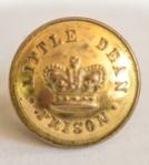ORIGINAL VICTORIAN (CIRCA 1850'S )  LITTLE DEAN PRISON TUNIC BUTTON , FRONT