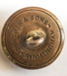 """ORIGINAL VICTORIAN (CIRCA 1850'S )  LITTLE DEAN PRISON TUNIC BUTTON BEARING THE MAKERS TRADEMARK NAME """"CHADWIN AND SONS BIRMINGHAM """" BACK"""