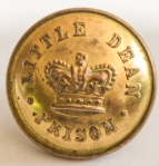 ORIGINAL SMALL VICTORIAN (CIRCA 1850'S )  LITTLE DEAN PRISON TUNIC BUTTON , FRONT
