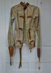 ORIGINAL VICTIORAN STRAIGHT JACKET THAT WAS FOUND IN LITTLEDEAN JAIL'S ATTIC SPACE BY BUILDERS DURING RENOVATION WORK BACK IN 1986 AND SUBSEQUENTLY DONATED TO THE CRIME THROUGH TIME COLLECTION FOR PERMANENT DISPLAY HERE AT THE JAIL