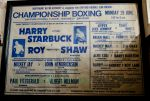 "Various original fight posters from the career of Roy ""Pretty Boy "" Shaw the undisputed unlicensed   British Heavyweight boxing champion between 1975 and 1981 . Roy sadly passed away 14th July 2012 . These items and other Roy Shaw material are on display at the Crime Through Time Collection at Littledean Jail"