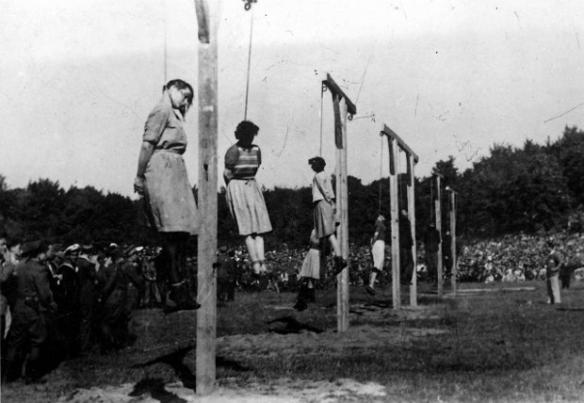 Biskupia_Gorka_executions_-_14_-_Barkmann,_Paradies,_Becker,_Klaff,_Steinhoff_(left_to_right)