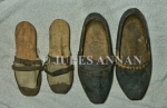 Well worn homemade clogs used by inmates at  a Nazi death camp