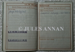 Original Wehrpas ( official identification card and work service record ) belonging to Rudolf Melnitzki who was a dog handler at Auschwitz during the holocaust years