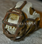Original and exceptionally rare ... Nazi German Shepherd dog muzzle as was worn at Auschwitz during the holocaust years