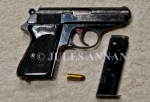 A well used Nazi Walther PPK pistol used during the holocaust years