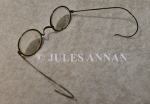 A genuine pair of spectacles removed from a Jewish inmate at Auschwitz duinr the Holocaust