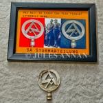 Original and very scarce Nazi SA car pennant