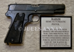 Nazi SS and Police  issued Walther PPK 7.65 calibre  pistols, Polish Radom Semi Automatic hand pistol used duing WW2