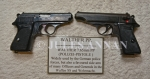 Nazi SS and Police  issued Walther PPK 7.65 calibre  pistols