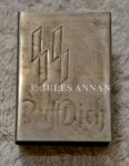 Nazi SS engraved  silver matchbox cover