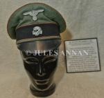 Original Nazi SS NCO peak cap, worn by Karl Wolf