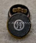 Original Nazi SS Death's Head honour ring and original box