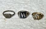 Various Nazi SS insignia  rings
