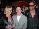 "Linda Calvey ""The Black Widow"", Roy 'Pretty Boy' Shaw and Nick Reynalds at the  Premiere of 'Killer Bitch' held at The Curzon Cinema in Mayfair, London"