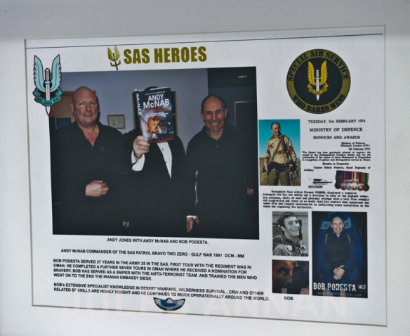 ANDY JONES OF LTTLEDEAN JAIL WITH FORMER SAS HEROES  ANDY McNAB AND BOB PODESTA