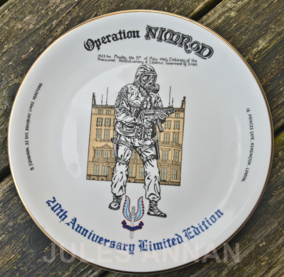 COMMEMARATIVE PLATE AND TANKARD FOR THE 20TH ANNIVERSARY OF