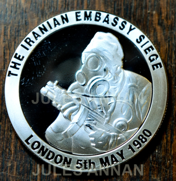 "a Limited Edition Iranian Embassy Challenge coin that has just been produced by the Regiment to commemorate the1980 Iranian Embassy Seige  and now here on display at the SAS Who Dares Wins "" CRW ""    ( ""Counter Revolutionary Warfare "" )  Exhibition at LittleDean Jail, a Limited Edition Operation Nimrod, Iranian Embassy Challenge coin that has just been produced by the Regiment to commemorate the1980 Iranian Embassy Seige  and now here on display at the SAS Who Dares Wins "" CRW ""    ( ""Counter Revolutionary Warfare "" )  Exhibition at LittleDean Jail"