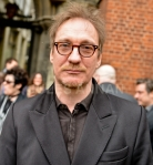 Actor David Thewlis  at  the church  at   Bruce Reynolds the Great Train Robbery masterminds funeral, London, UK