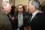 Actor Dougray Scot, Nick Reynolds and guest  at the wake for  Bruce Reynolds the Great Train Robbery mastermind, London, UK