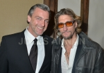Actor Dougray Scott  and Nick Reynolds at the wake for  Bruce Reynolds the Great Train Robbery mastermind, London, UK