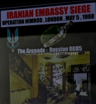 AN  ILLUSTRATIVE  PICTURE OF THE STAIRWELL SCENE  AT THE END OF THE SIEGE,, PERSONALLY SIGNED UP FOR DISPLAY BY SAS TROOPER ... PETE WINNER WHO WAS ONE OF THE SAS INVOLVED IN THE STORMING OF THE BUILDING .