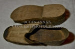 Authentic  homemade male clogs as were worn within the Nazi Holocaust Death Camps.
