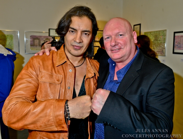 Danny Lambo and Andy Jones at the launch of Charles Bronson