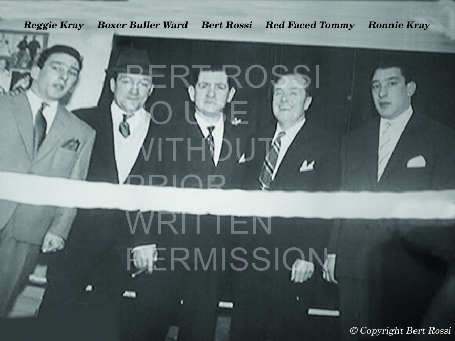 Reggie Kray-Boxer Buller Ward-Bert Rossi-Red Faced Tommy-Ronnie Kray WITH TYPE