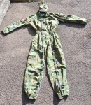 WELL WORN ARKAN'S TIGERS CAMOUFLAGED JUMPSUIT COMPLETE WITH PARAMILITARY ARM PATCHES