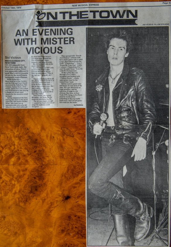 SID VICIOUS PERFORMING SOLO WEARING THESE LEATHER BOOTS ON WHAT WAS HIS LAST LIVE PERFORMANCES AT MAX'S KANSAS CITY , NEW YORK ON SEPTEMBER 29 1978 ... LATER TO BE REPORTED IN THE  NME DATED 14 OCTOBER 1978