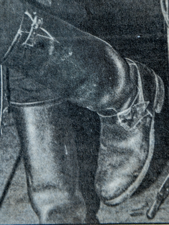 NME CUTTING DATED 14 OCTOBER 1978  OF SID VICIOUS WEARING THESE BOOTS DURING HIS SOLO GIG AT MAX'S KANSAS CITY GIG ... A GREAT RARE  CLOSE-UP OF SID'S BOOTS AS WAS LAST WORN BY SID SHORTLY BEFORE HIS ARREST FOR THE MURDER OF HIS GIRLFRIEND NANCY SPUNGEN ON 12 OCTOBER 1978