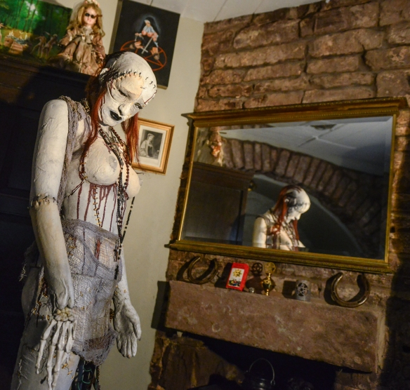 With Halloween approaching, the  new Witchcraft and The Occult  Exhibition at The Crime Through Time, Littledean Jail, Gloucestershire, Uk